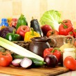 Raw vegetables on kitchen table — Stock Photo #5570849