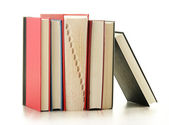 Composition with books isolated on white — Stock Photo