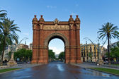Barcelona Spain Arc triumph — Stock Photo