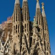 Detail facade Sagrada Familia Barcelona Spain — Stock Photo