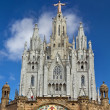 Spain Barcelona Temple de Sagrat Cor Tibidabo - Stock Photo