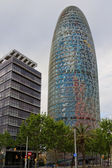 Torre Agbar, Barcelona Spain — Stock Photo