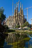 Detail facade Sagrada Familia Barcelona Spain — Stock Photo