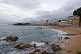 Lloret de Mar beach panoramic — Stock Photo