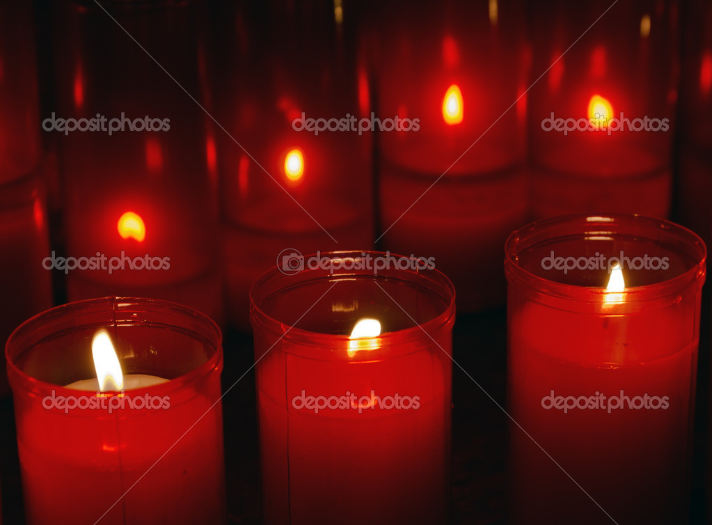Red Sails, are intended for prayers or petitions.  Stock Photo #6107833
