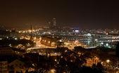 Night panorama of the city of Barcelona Spain — Stock Photo