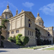 El Palacio Nacional de Montjuic — Stock Photo