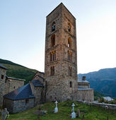 Romanesque church of Santa Eulalia de Erill la Vall, Catalonia, Spain — Stock Photo