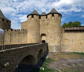 Carcassonne, France, UNESCO. Castle — Stock Photo