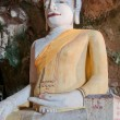 Big beautiful buddha in cave temple — Stock Photo