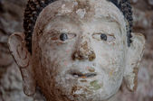 Old buddha portrait — Stock Photo