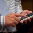 Stock Photo: Business mtouch phone
