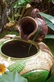 Jar e jardim — Foto Stock