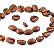 Symbol smile coffee beans — Stock Photo