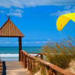 Stock Photo: Beach of Cortadur( Cadiz )