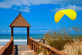 Beach of Cortadura ( Cadiz ) — Stock Photo