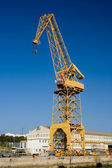 Crane in the port — Stock Photo