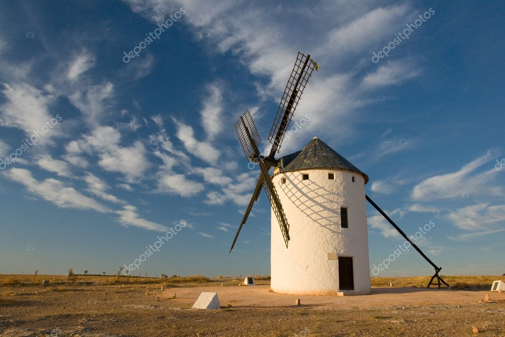 Typical windmills of  Region of Castilla la Mancha — Stock Photo #5411782