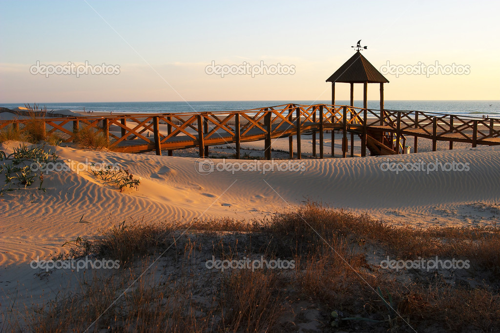Landscape of the beach of Cortadura ( Cadiz )  Stock Photo #5412396