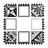 Grame černé & bílé — Stock vektor