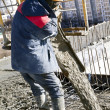 Concrete works — Stock Photo