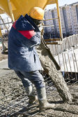 Concrete works — Stock Photo