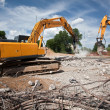 Destroying reinforced concrete structures — Stock Photo #6230300
