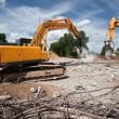 Stock Photo: Destroying reinforced concrete structures