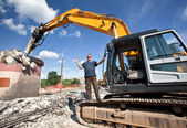 Destroying reinforced concrete structures — Stock Photo