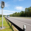 Highway and radar speed camera — Stock Photo