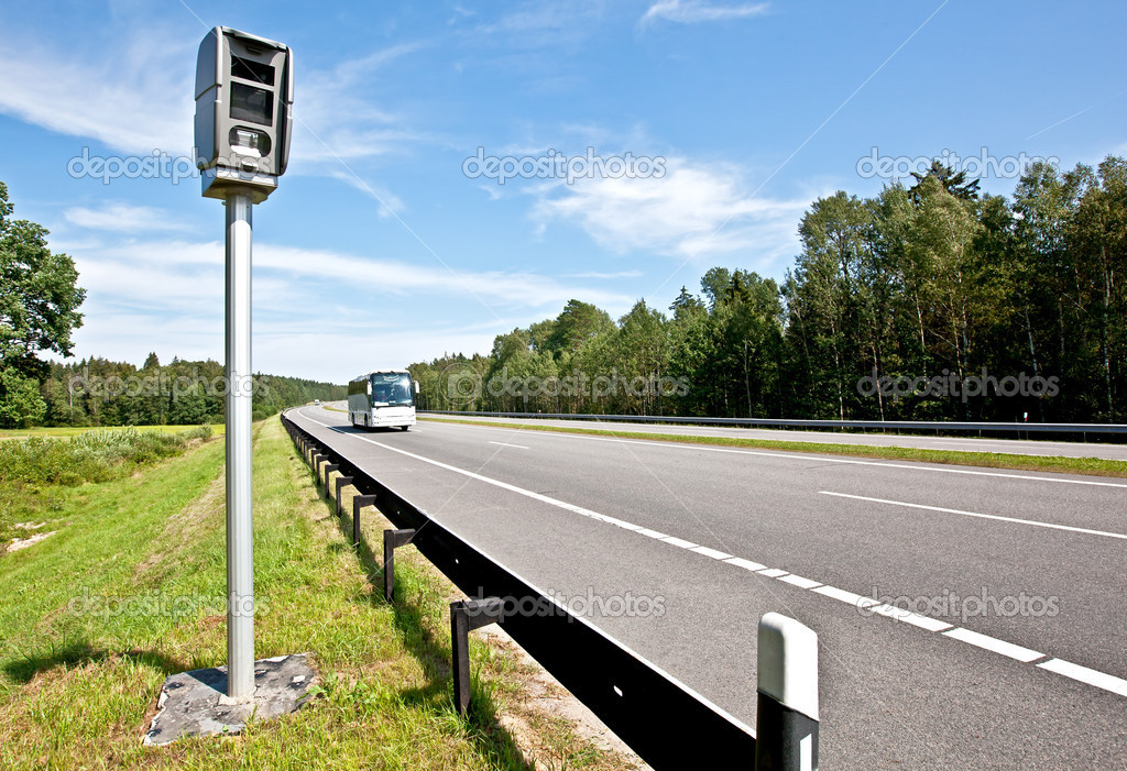 Speed control by the police with a radar speed camera   #6644656