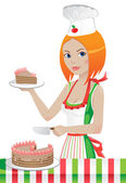 Pastry-cook — Stock Vector