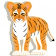 Royalty-Free Stock Vector Image: Small tiger
