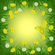 Stock Vector: Dandelions background