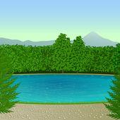 Mountain lake — Stock Vector