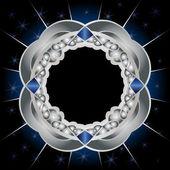 Metal and sapphires framework — Stock Vector