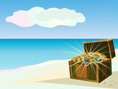 Island of treasures — Stock Vector