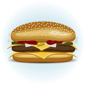 Fast sandwich — Stock Vector