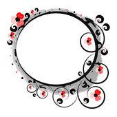 Fantasy red flowers framework — Stock Vector
