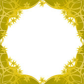 Fantasy golden flowers framework — Cтоковый вектор
