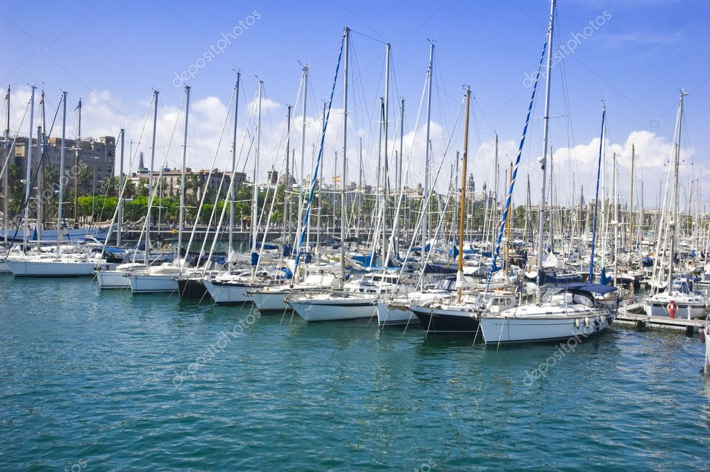 Yacht port in Barcelona, Catalonia, Spain  Stock Photo #5520589