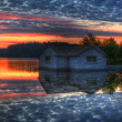 Panorama of a sunrise on a lake — Stock Photo #5442803