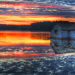 Panorama of a sunrise on a lake — Stock Photo #5442811