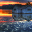 Panorama of a sunrise on a lake — Stock Photo #5442812