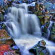 Stock Photo: Colorful scenic waterfall in HDR