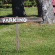Rustic parking sign — Stock Photo