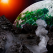 Abstract view of earth from another planet — Stock Photo