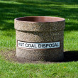 Hot Coal Disposal Container — Stock Photo