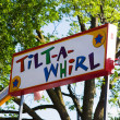 Colorful Tilt a whirl Sign — Stock Photo