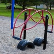 Teeter Totter in the playground. - Stock Photo